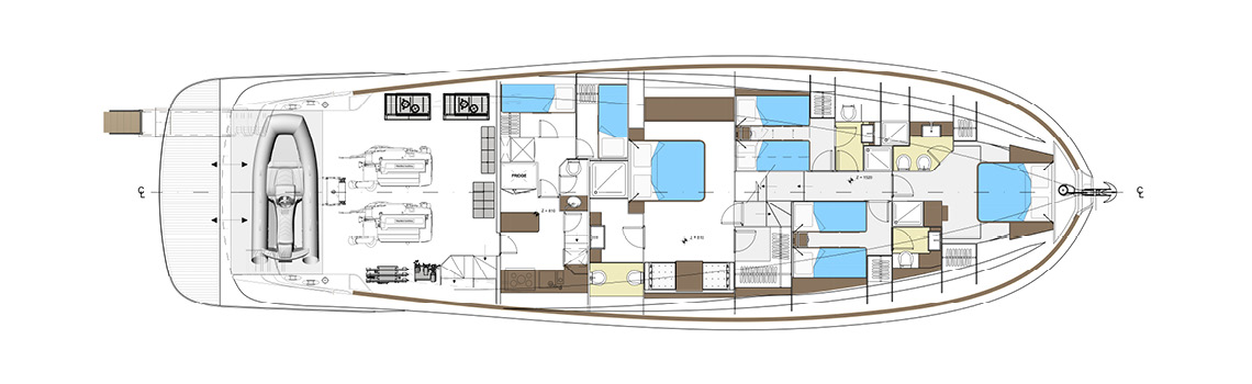 Solaris Power 70 cabin layout